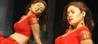 manjari hot pic in red