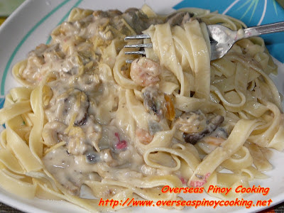 Pinoy Seafood Carbonara