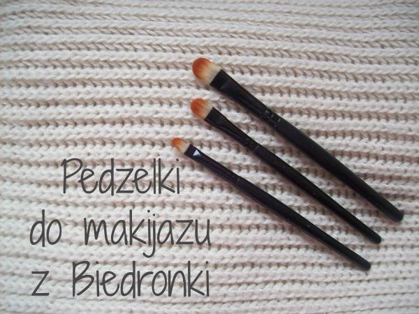 Zestaw pędzelków do makijażu, Biedronka