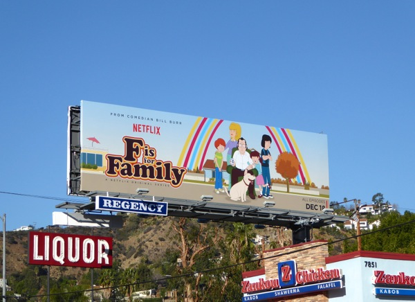F is for Family season 1 Netflix billboard