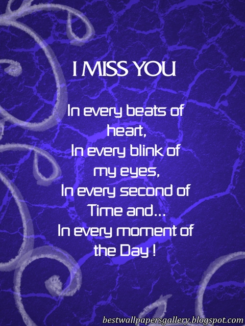 Miss you | I Miss you wallpapers | I miss you quotes