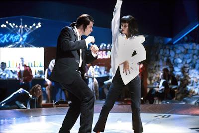 Uma Thurman and John Travolta dancing in Pulp Fiction