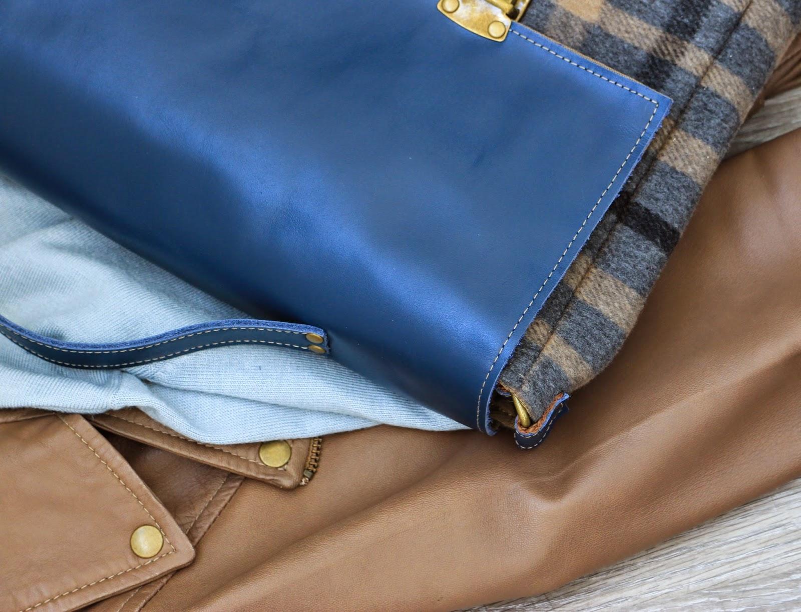 кожаный женский портфель