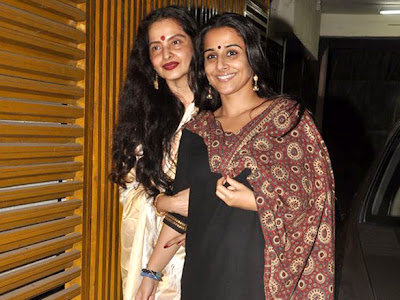 Rekha and Vidya Balan watches film Kahaani