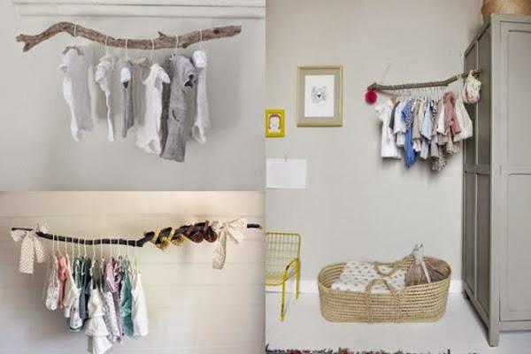 Mi mundo me mola decorar con la ropa de tu bebe for Perchas bebe ikea