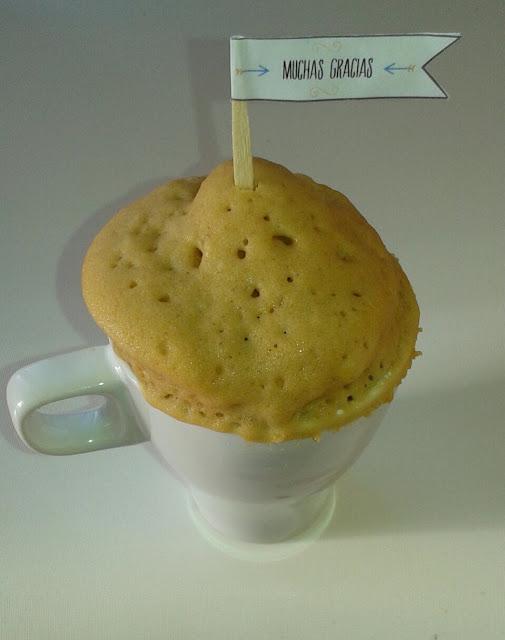 Mug cakes en tu boda. Receta y plantilla descargable