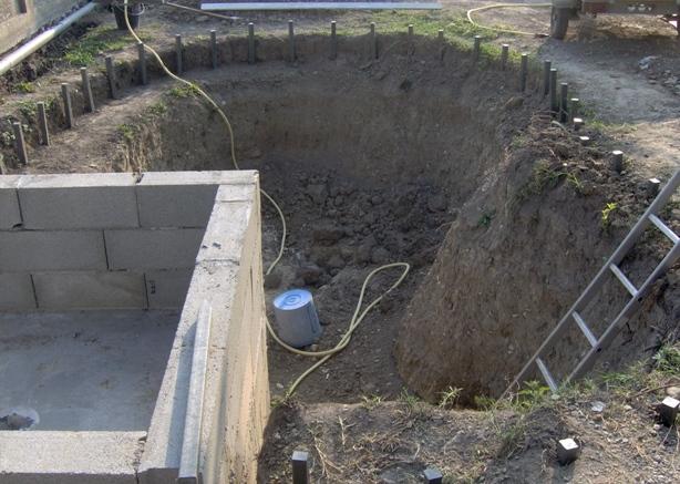 Plan d 39 ex cution d 39 une b che eau coffrage et for Bache pour bassin brico