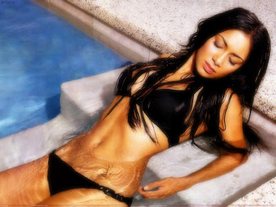 Nicole Scherzinger Hot Wallpaper in bikini