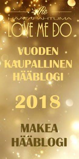 Vuoden hääblogi 2017 ja 2018
