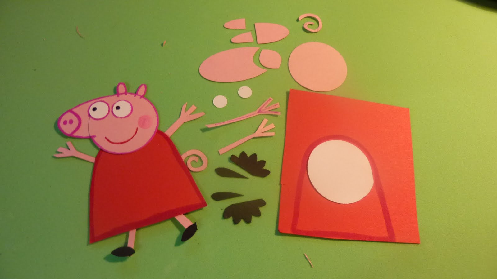 Peppa pig cake template the image kid for Peppa pig cake template free