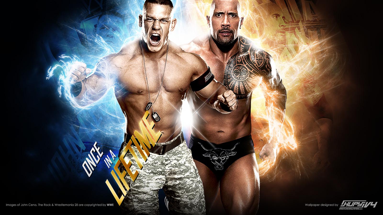 John Cena WrestleMania The Rock Wallpaper HD