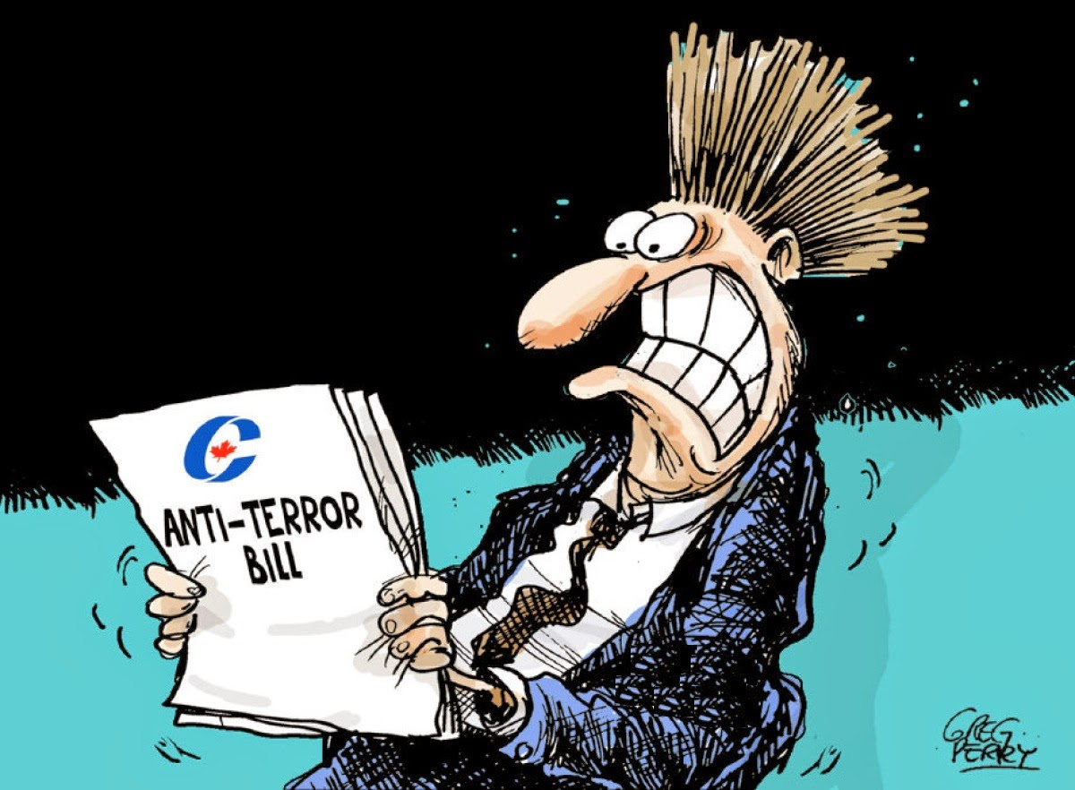 Greg Perry: Anti-terror Bill.
