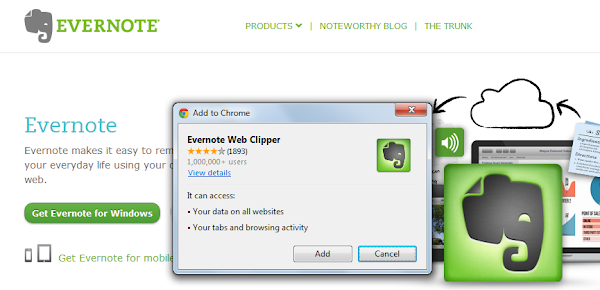 Inline Installation EverNote For Chrome