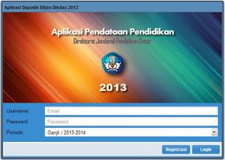 Aplikasi Pendataan Pendidikan Dasar Dapodikdas 2013/2014