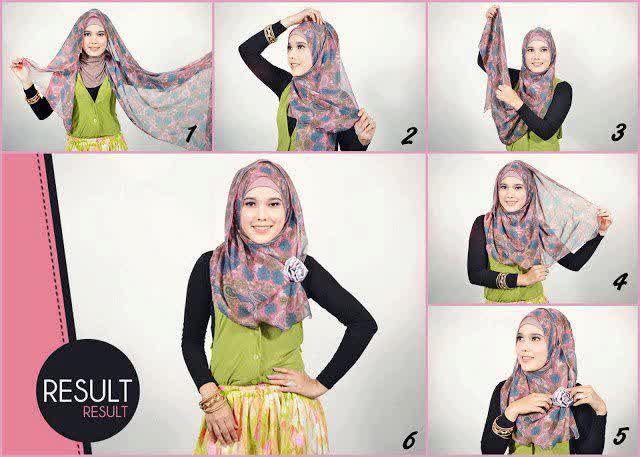 Tutorial Hijab Pashmina chiffon (Mudah dan Indah)