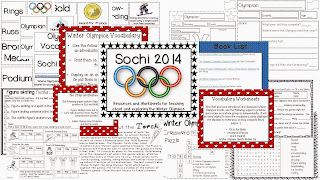 http://www.teacherspayteachers.com/Product/Winter-Olympics-Sochi-2014-Resources-and-No-Prep-Activities-1033490