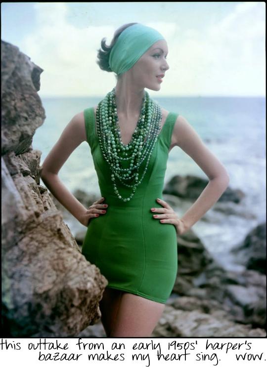 vintage Harpar's Bazaar swimsuit