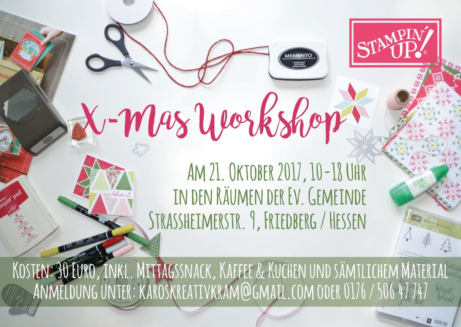 Großer X-Mas Workshop am 21.10 von 10-18 Uhr in Friedberg / Hessen