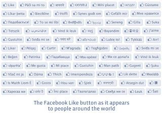 macam-macam tombol like facebook dari berbagai negara