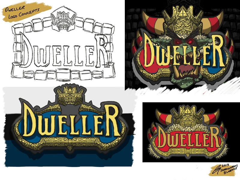 Dweller Roguelike logo concepts