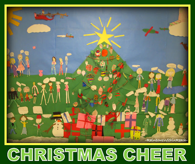 photo of: Christmas Cheer Bulletin Board (RoundUP of Christmas Bulletin Boards via RainbowsWithinReach)