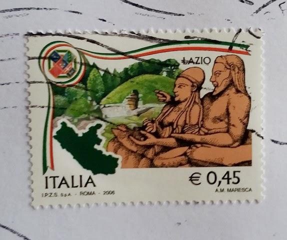 francobollo del 2006 dedicato al Lazio