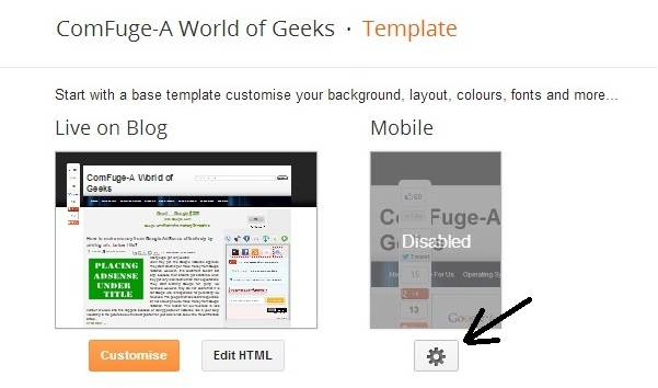 Blogger Template Changing Setting Button