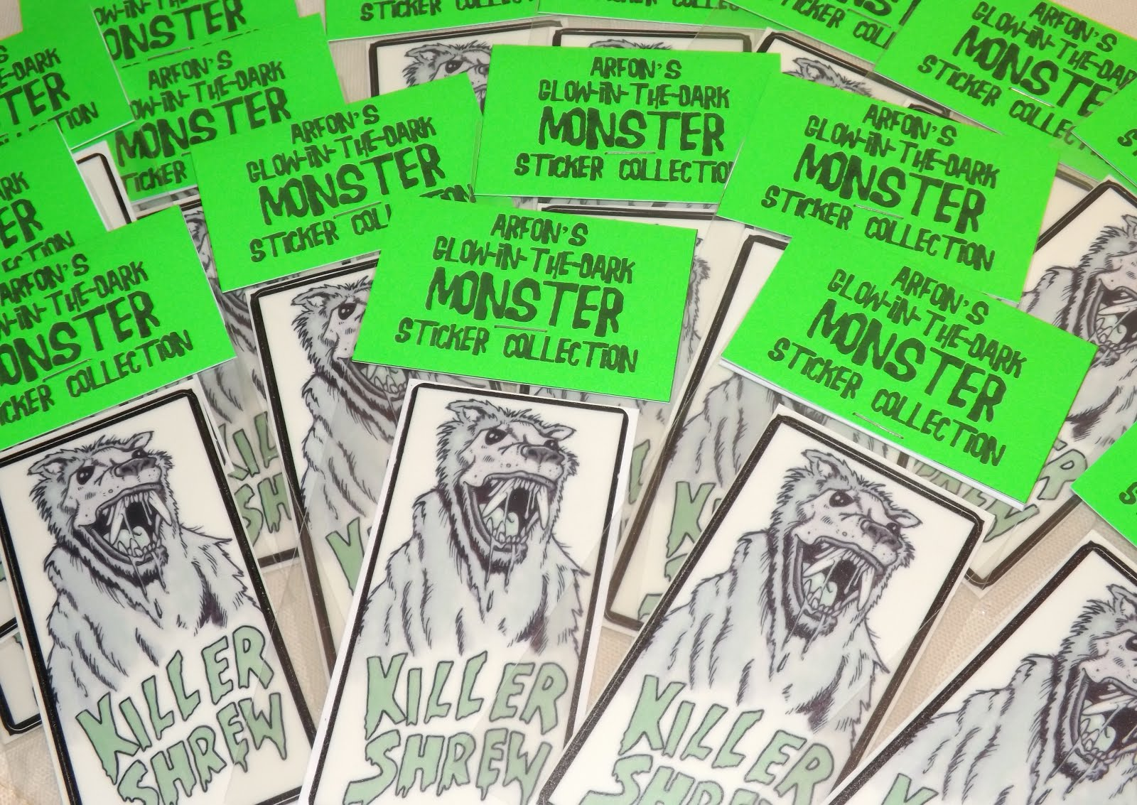 Why not consider supporting me on Patreon by joining my Glow- in- the- Dark Monster Sticker Club?