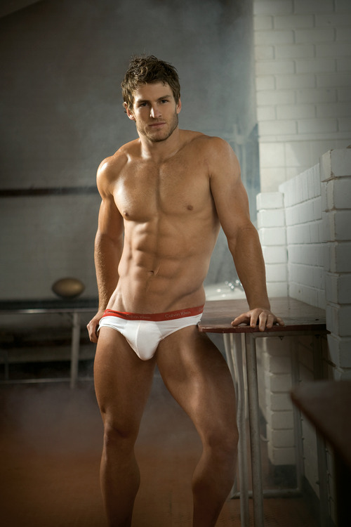 sexy men in white briefs