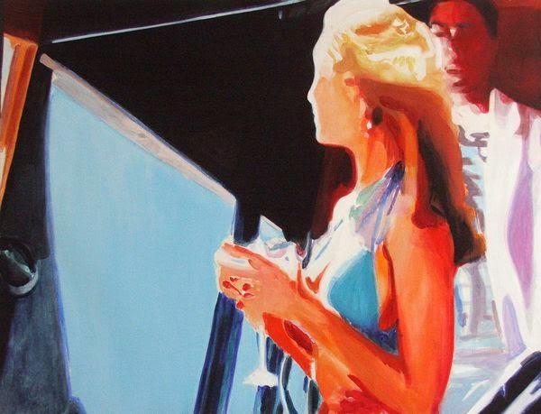 Na lodi II.  • 2009 • akryl, akvarel, plátno • 110x145cm
