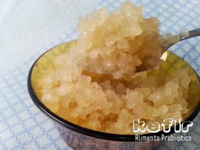 Grãos de kefir de água ou tambem chamados de Tibico em alguns países, eles se alimentam de açṹcar mascavo misturados com água, são excelentes probióticos.