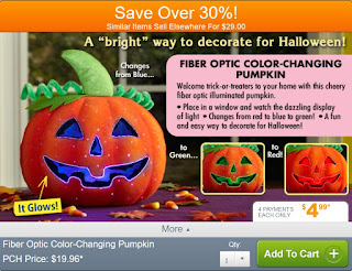 Fiber Optic Color Changing Pumpkin from Publishers Clearing House