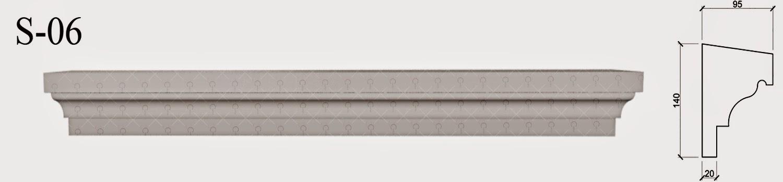 solbanc profile decorative polistiren pentru fatade de case la partea de jos a geamurilor