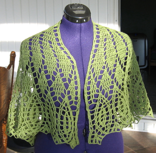 Simple Knits On Top Of The World Shawl To Crochet