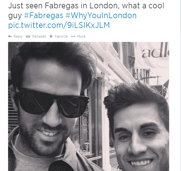 Why would he be in london when spain are preparing for the world cup