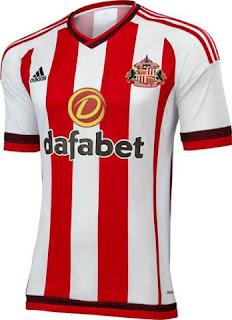 bocoran jersey musim depan Jersey home Sunderland terbaru musim 2015/2016 di enkosa sport toko online pakaian bola terpercaya