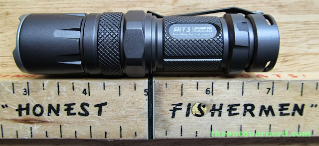 Nitecore SRT3 Defender EDC Flashlight: Next To Ruler Without AA Extender