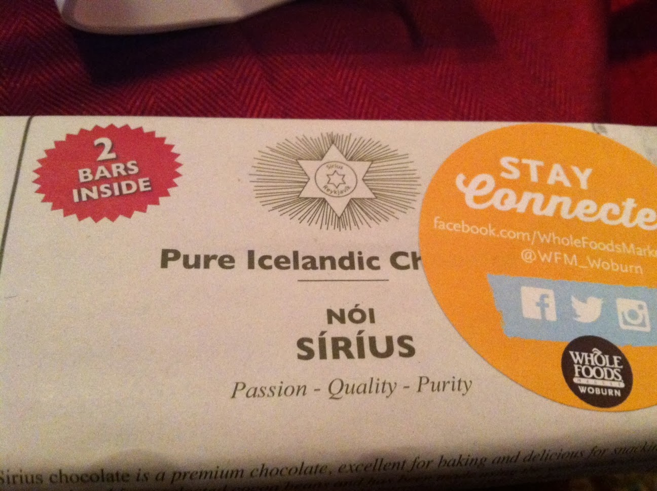 Pure Icelandic Sirius Chocolate. Cooking Chat ChocolateFest preview!