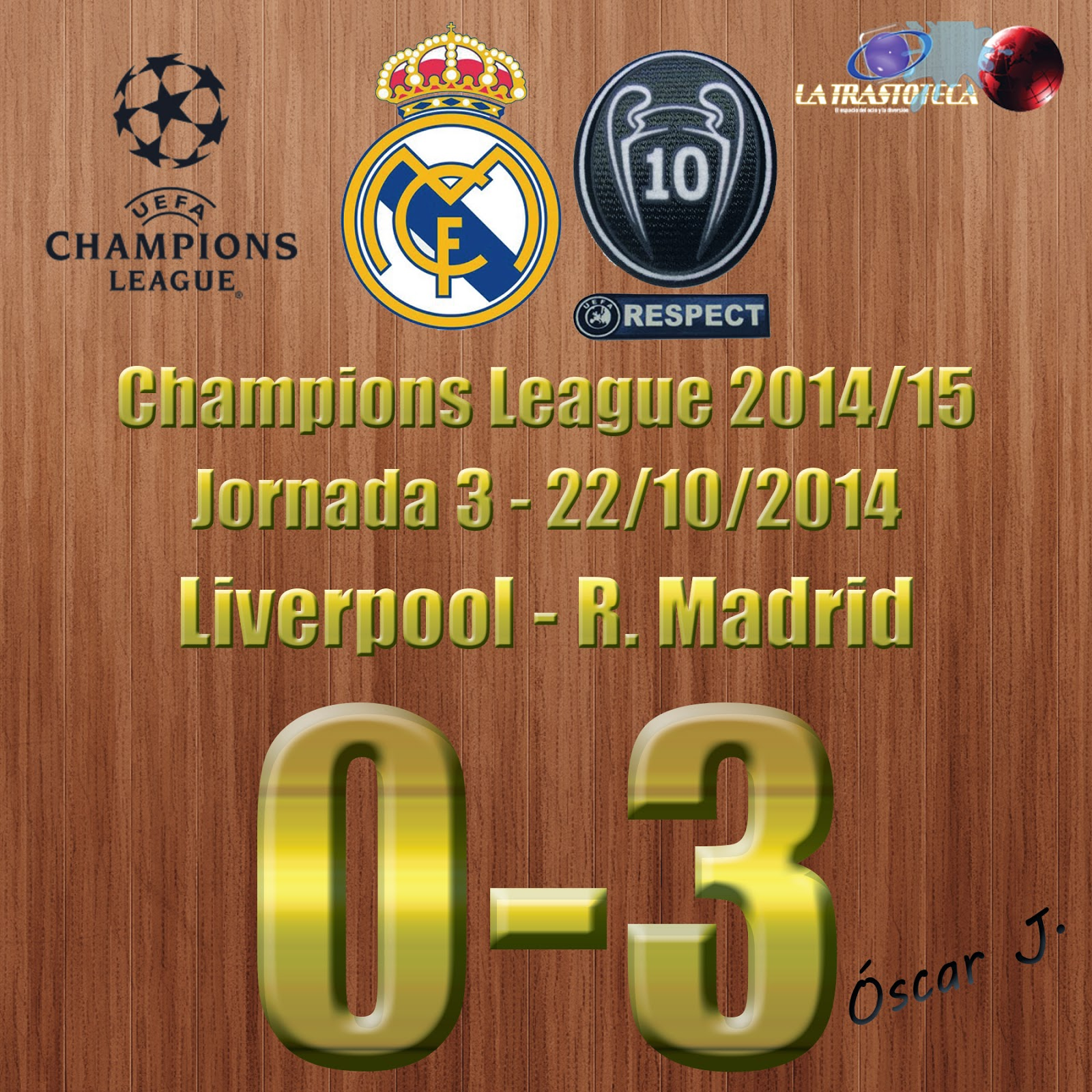 Liverpool 0-3 Real Madrid - Champions League 2014/15 - Jornada 3 (22/10/2014) - Doblete de Benzema