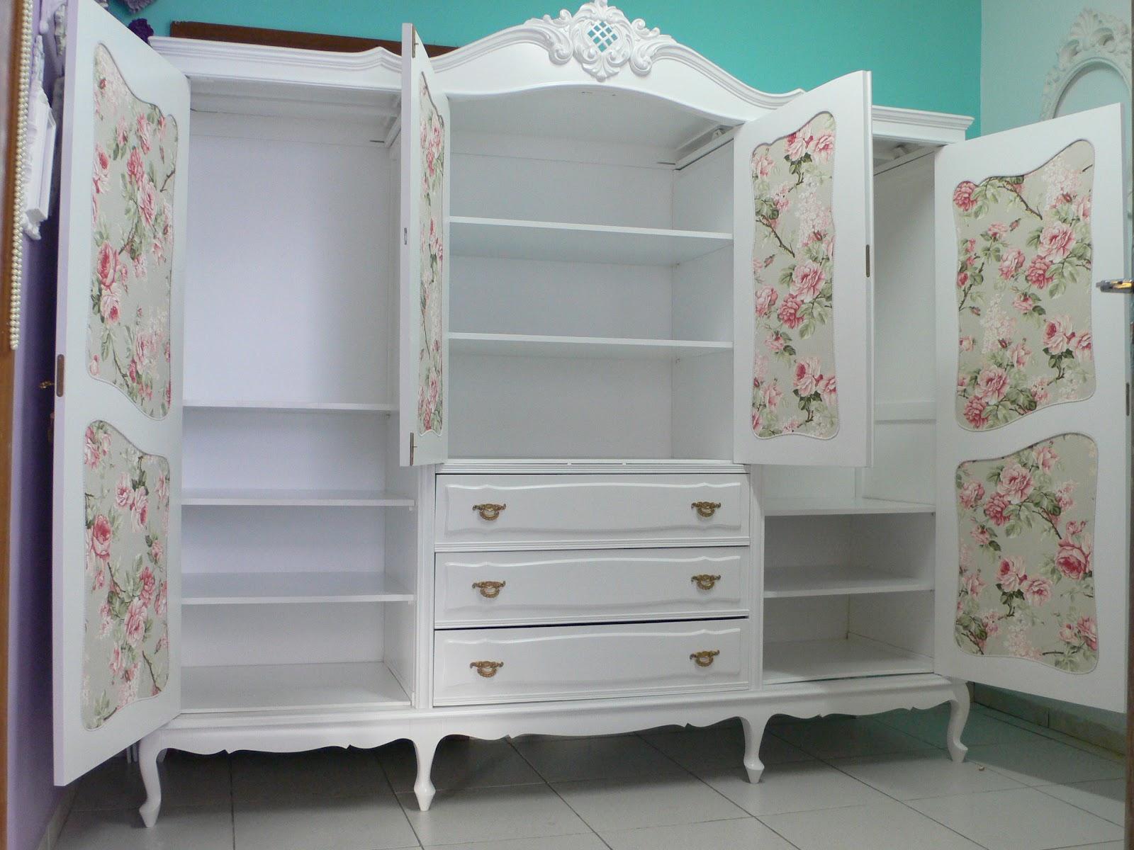 decoracao moveis branco:Ateliando – Customização de móveis antigos: Quarto Provençal by