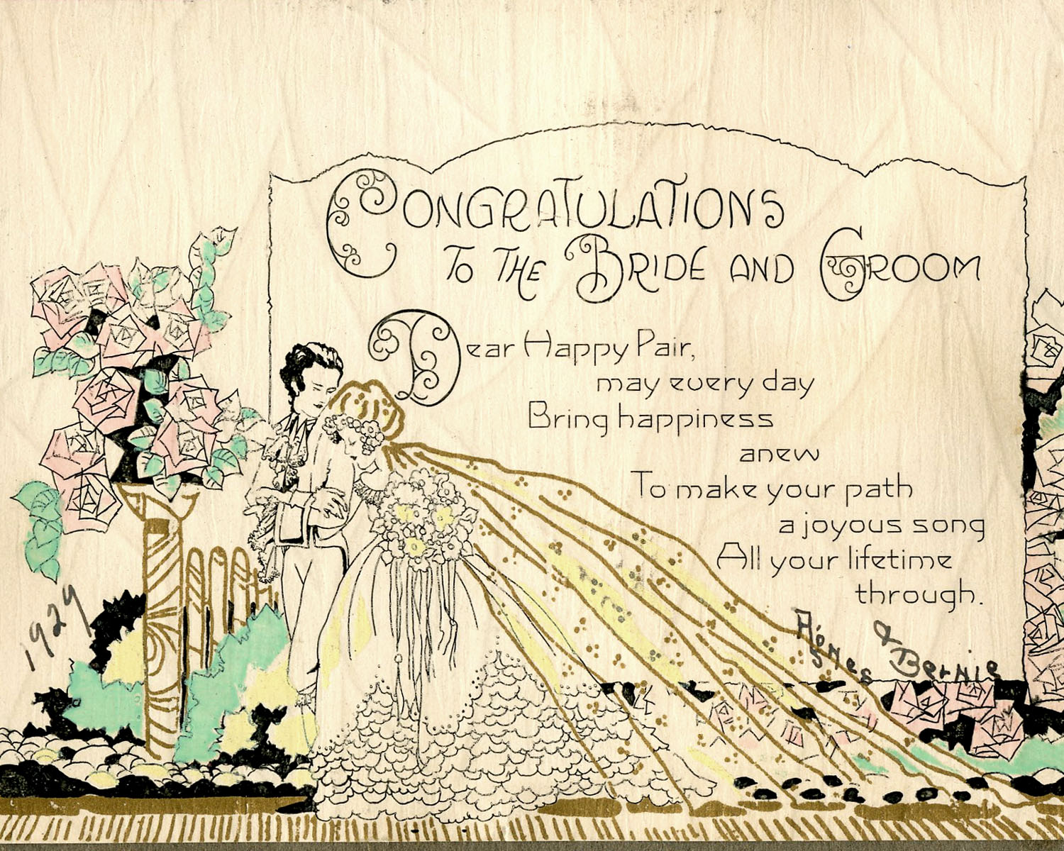collection 244 vintage 1920s wedding cards