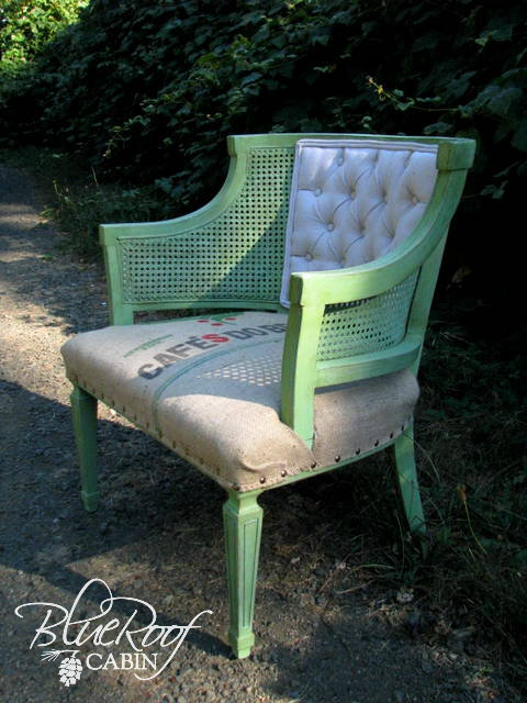Coffee Sack Upholstered Chair