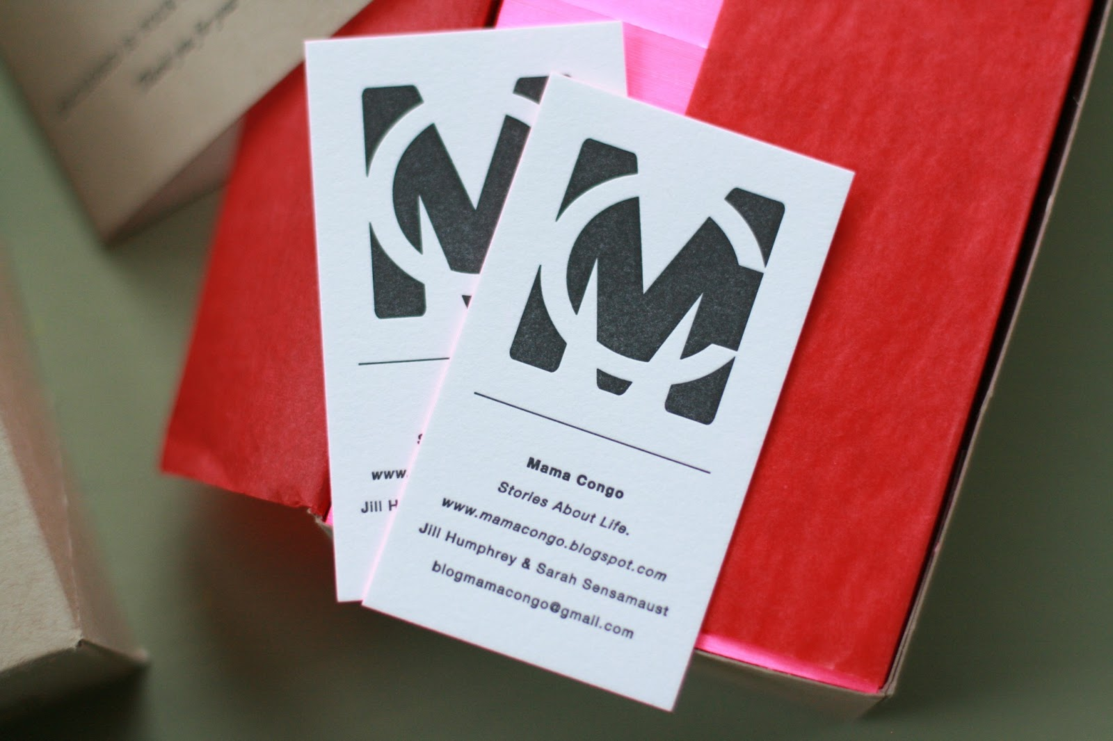 mama congo: Hot Pink Business Card Swoon
