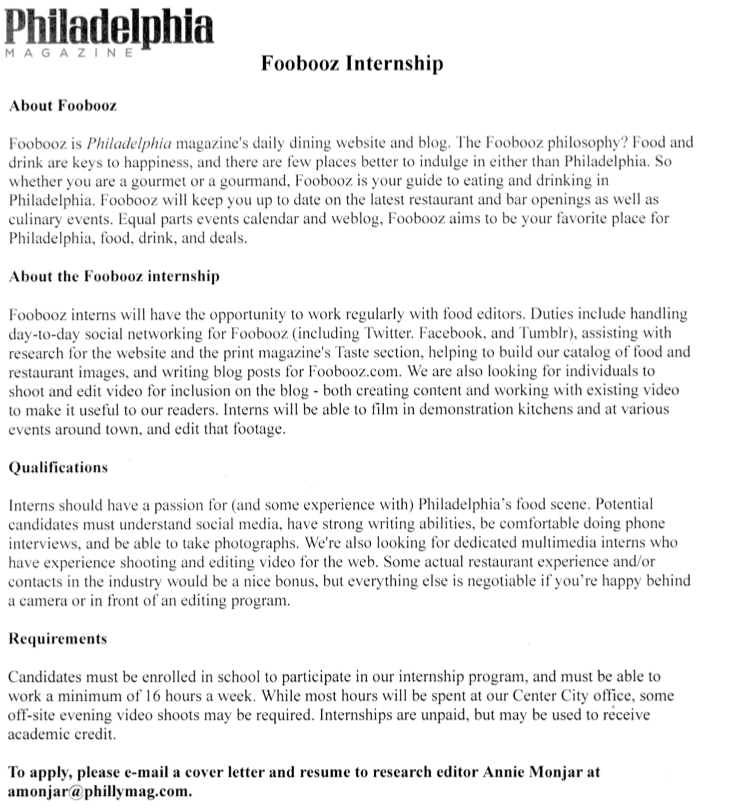 writing a cover letter for a journalism internship