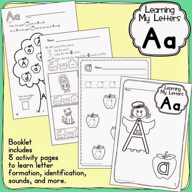 http://www.teacherspayteachers.com/Product/Learning-My-Letters-Aa-1128542