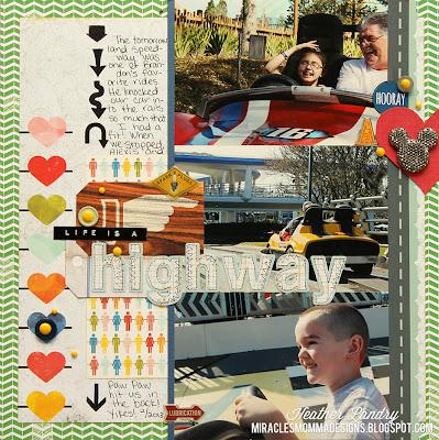 Disney_Car Ride_Tomorrowland Scrapbook Page