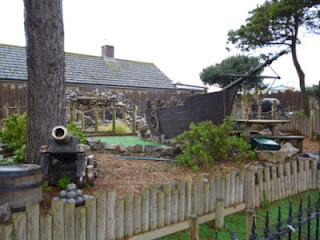 The Smugglers Cove Adventure Golf course in Brean