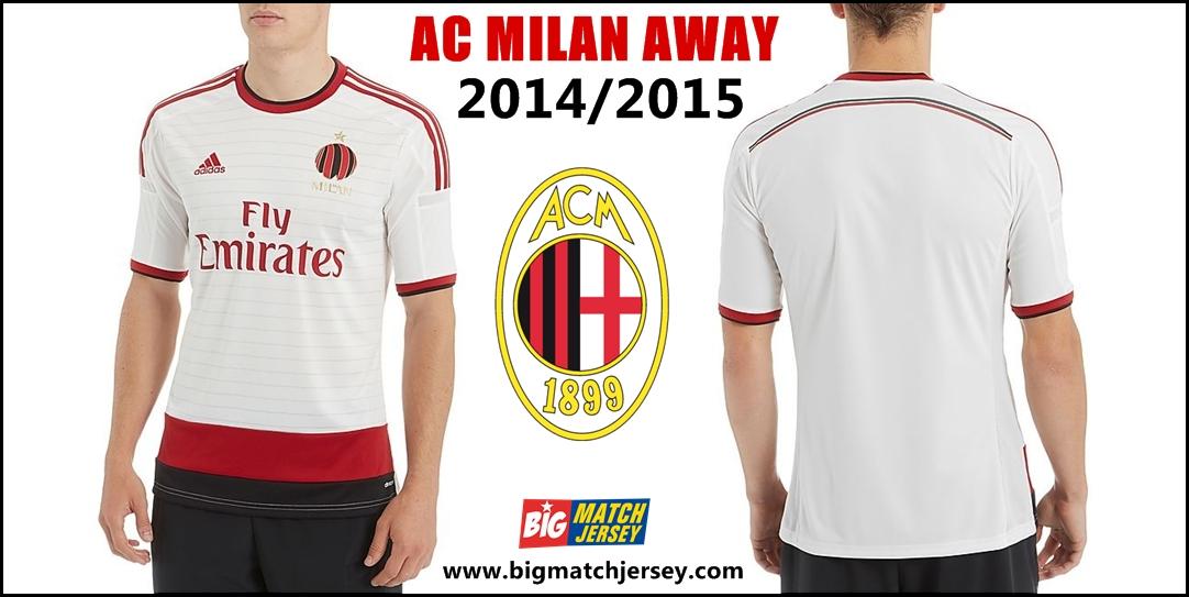 jersey grade ori thailand ac milan away 2014 -2015 liga italia