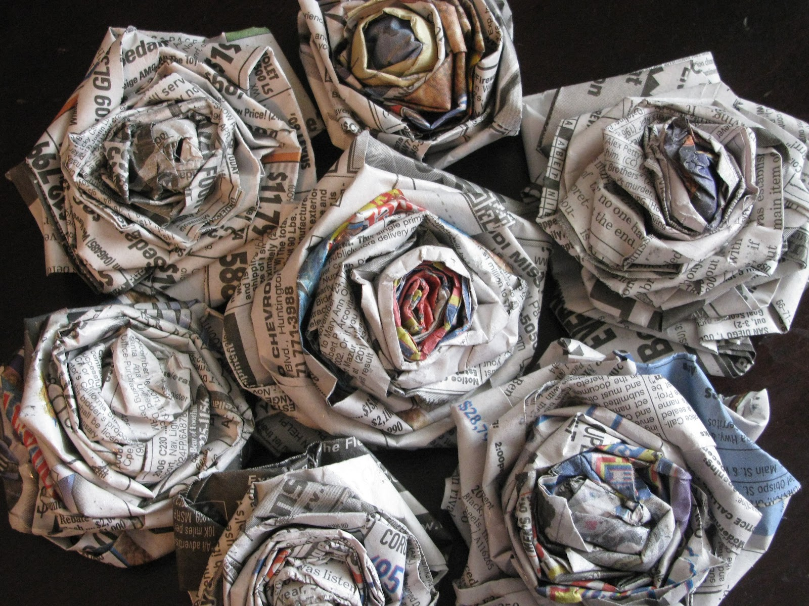 Amazing How To Make Paper Flowers From Newspaper Crest Best