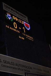 0-1 momentáneo con el gol del Numancia al Alcorcón obra de Julio Álvarez
